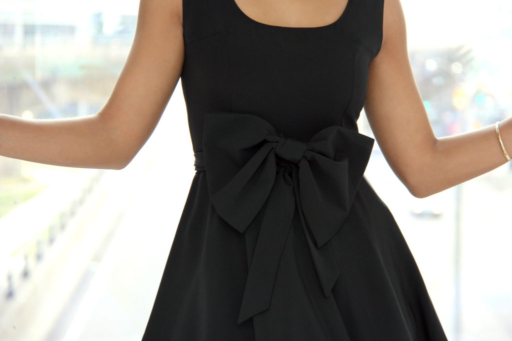 DIY Fit & Flare Dress with Bow by Sweet Shard