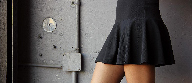 Little Black Drop Waist Dress