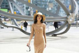 www.SweetShard.com Poppy Dress - By Hand London DIY Nude Maxi Dress