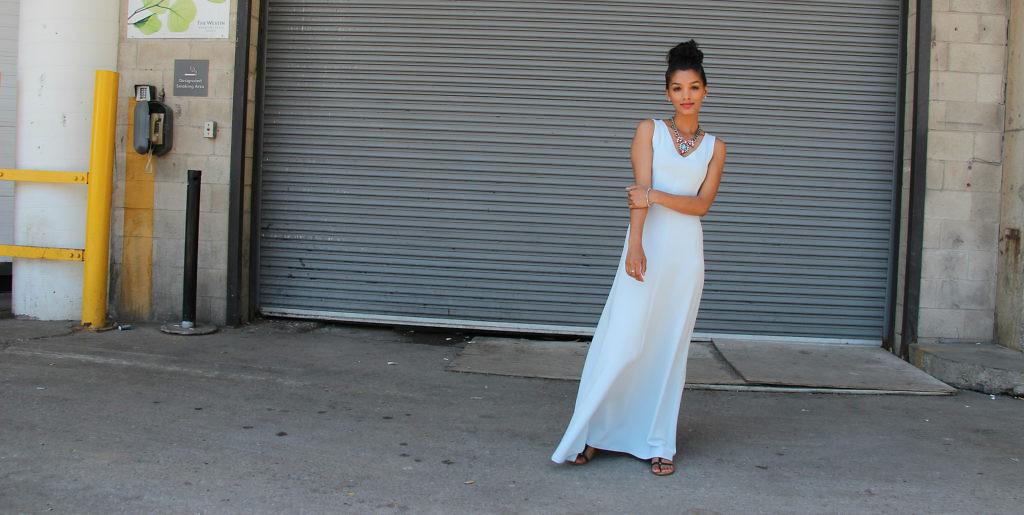 www.SweetShard.com M7121 DIY summer Maxi Dress