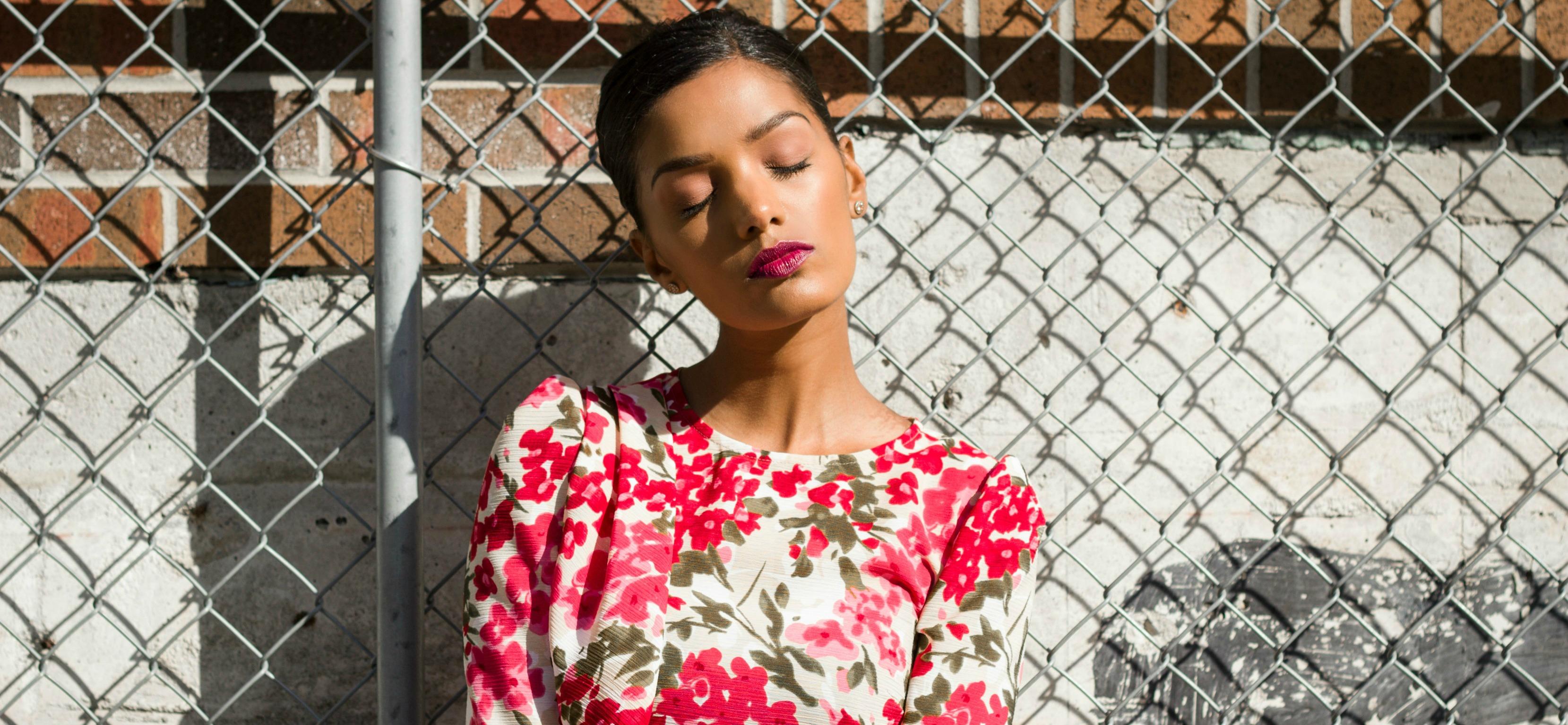 A Fall Floral Dress – B6240