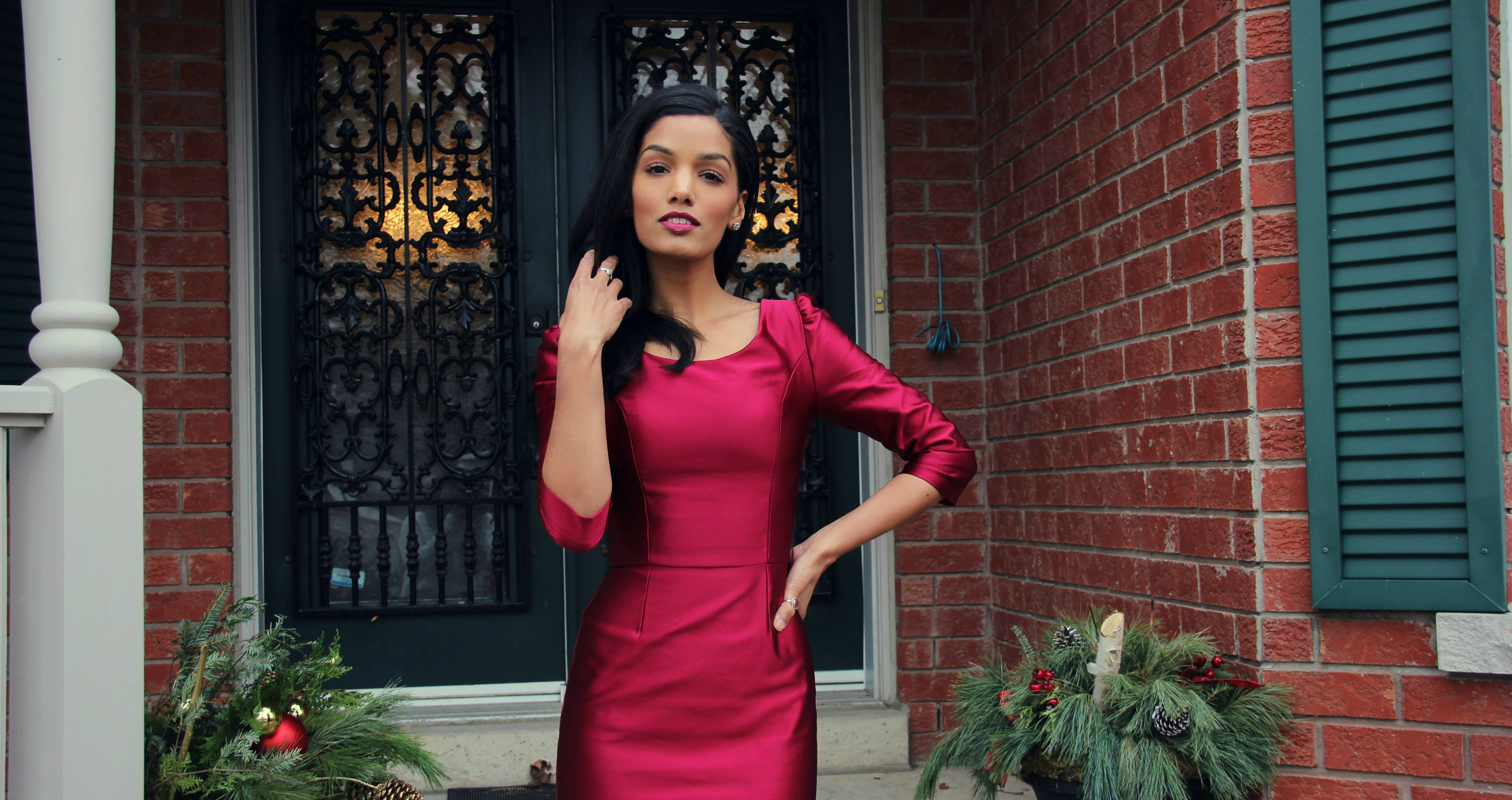 Red Holiday Dress – Simplicity 1650
