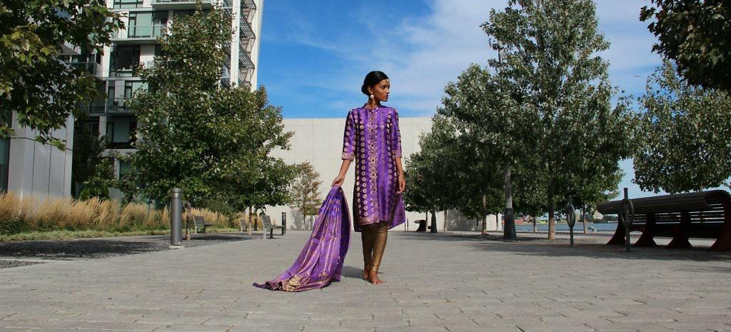 Sweet Shard Purple DIY Diwali Women's Kurta and Dupatta - #b6294