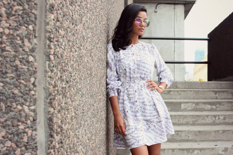 By Hand London Pattern Hack: Turn the Sarah Shirt into a Dress