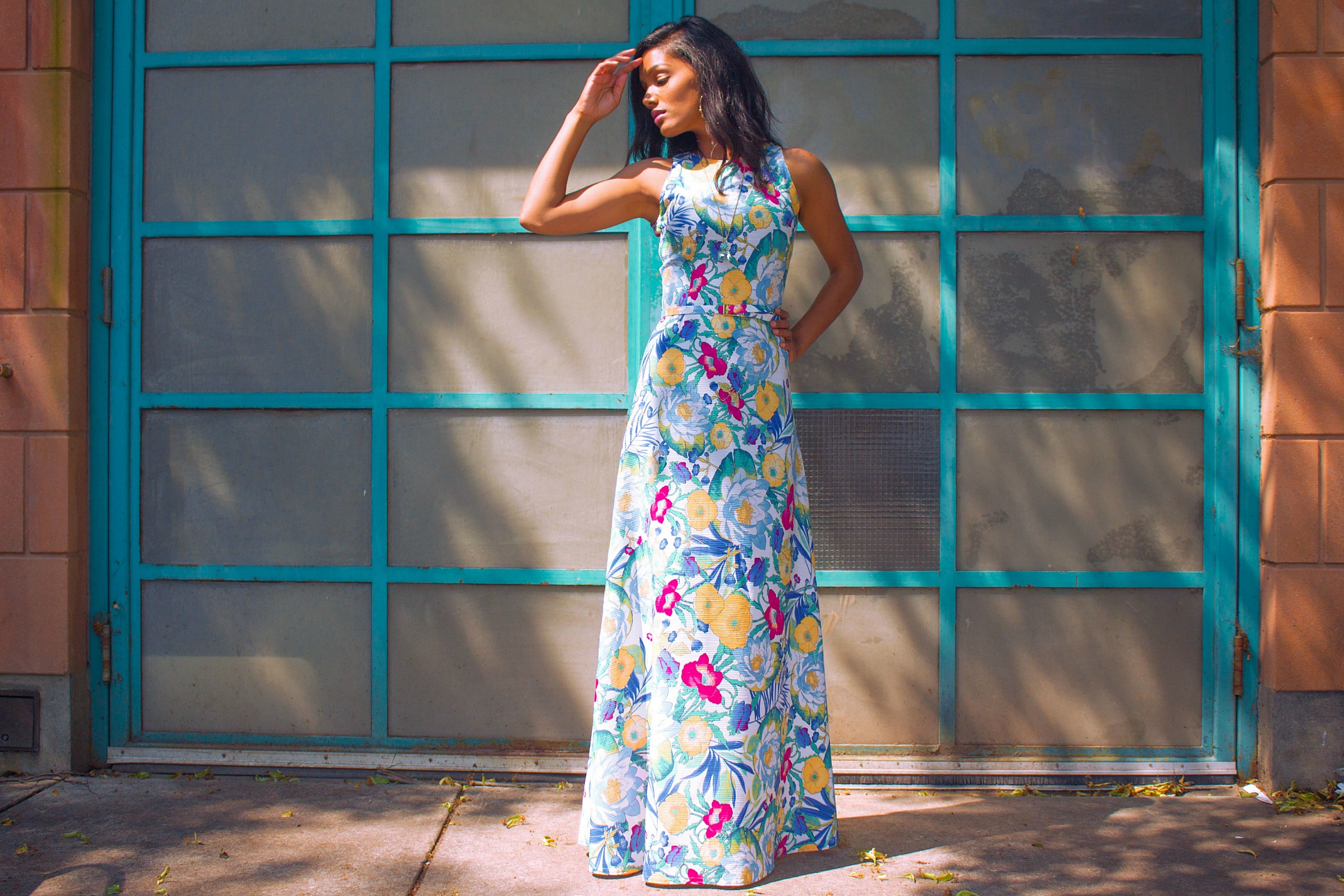DIY Floral Summer Maxi www.SweetShard.com