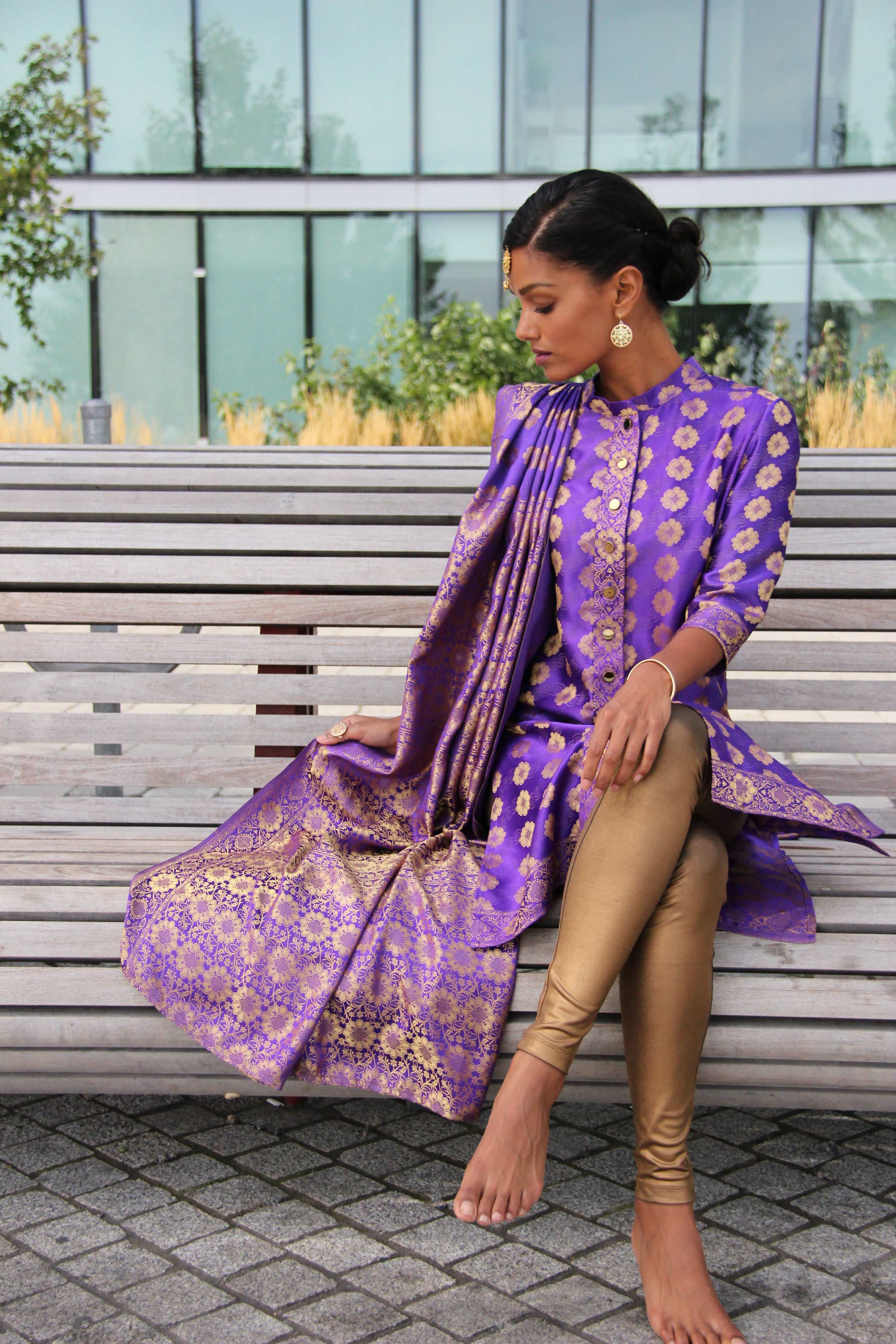Sweet Shard Purple DIY Diwali Shalwar and Dupatta - #b6294