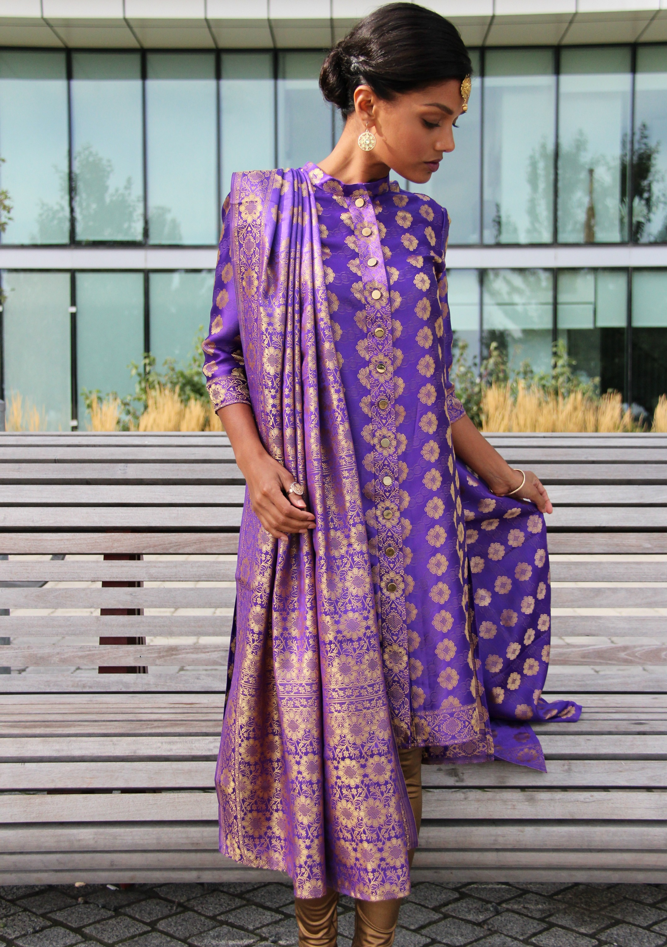 Sweet Shard Purple DIY Diwali Shalwar and Dupatta - #b6294