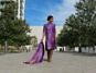 Sweet Shard Purple DIY Diwali Women's Kurta and Dupatta - #b6294