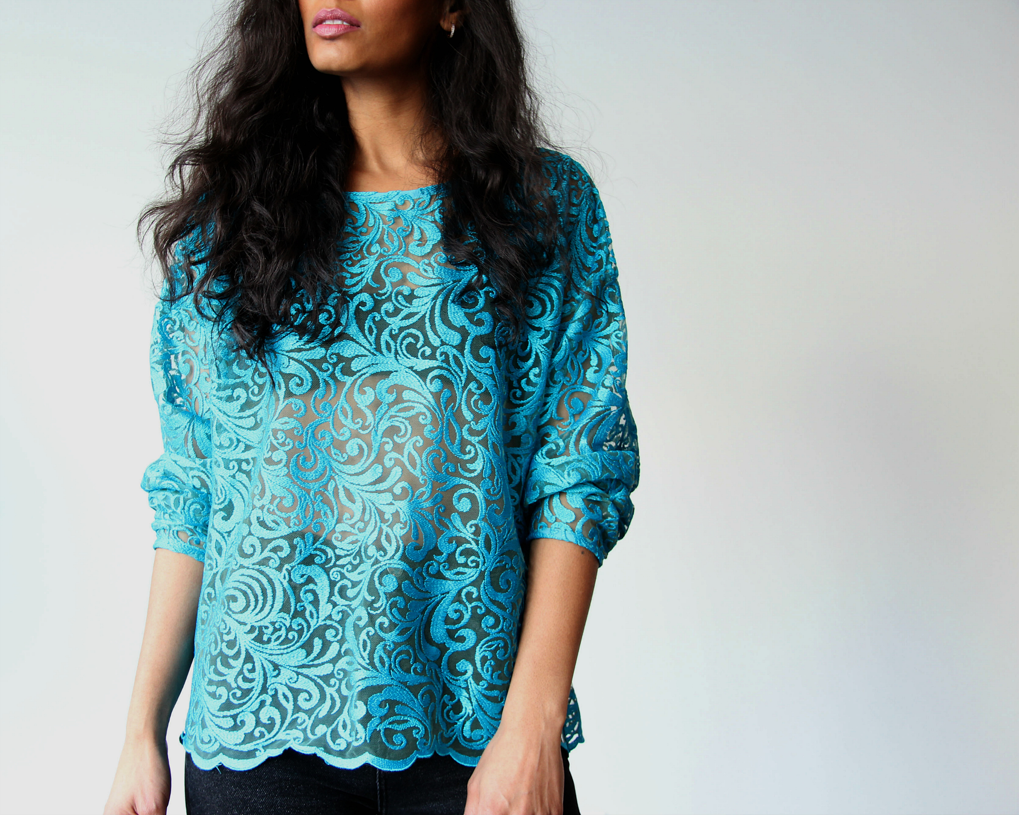 Lace Blouse with Sleeve Detail